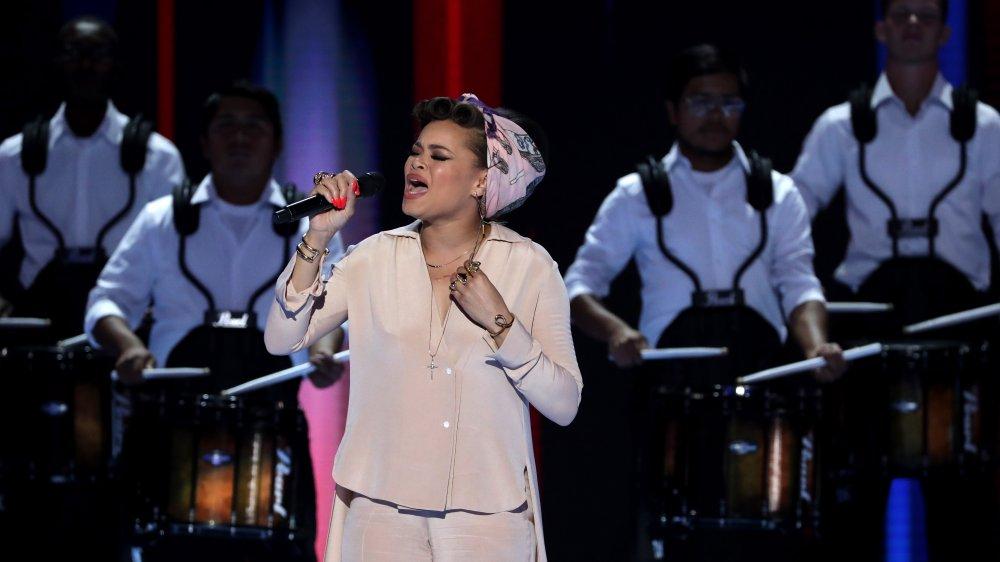 Andra Day singt auf dem Democratic National Convention