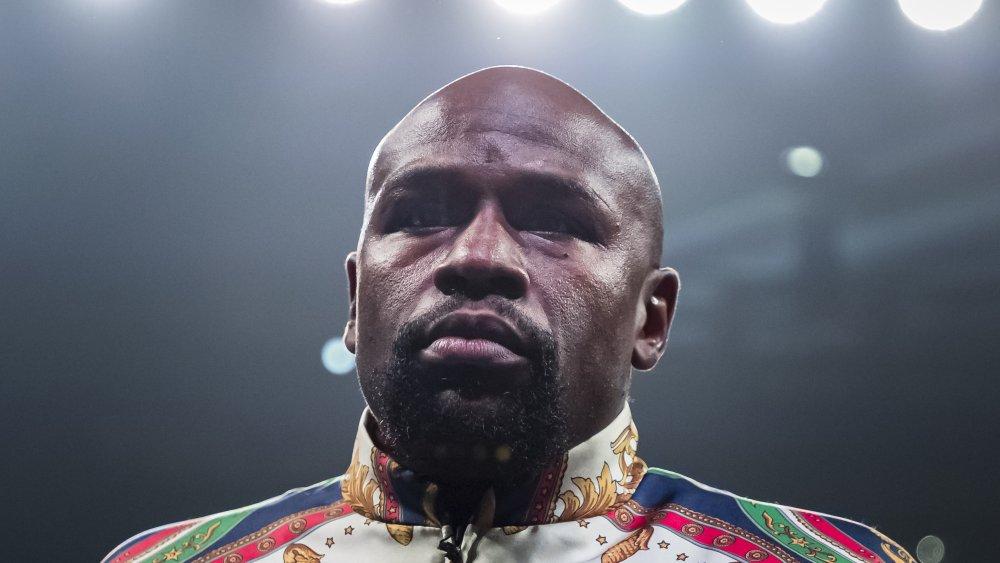 Floyd Mayweather beim WBA-Kampf im Superfedergewicht im Jahr 2019