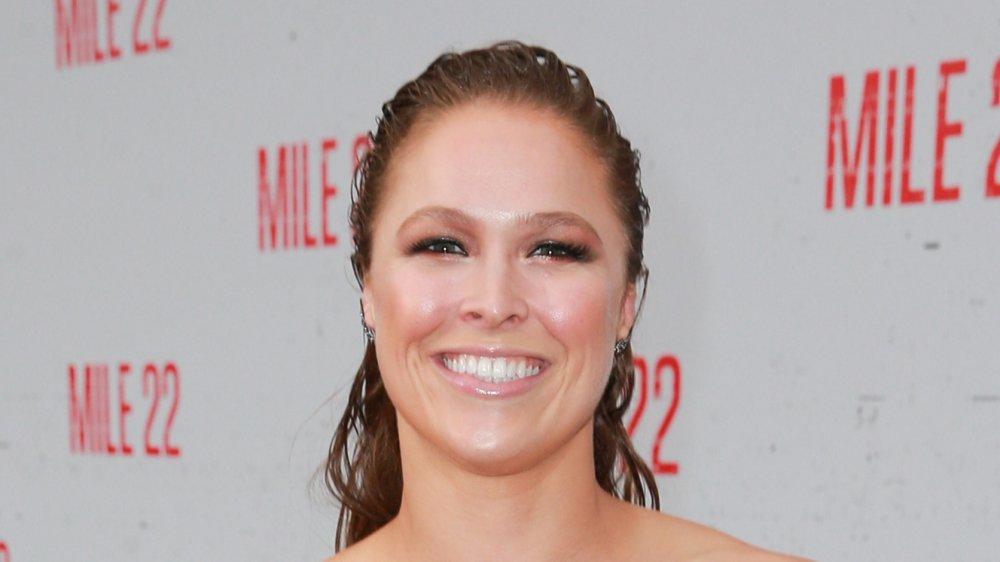 Ronda Rousey bei der Premiere von Mile 22 im Jahr 2018