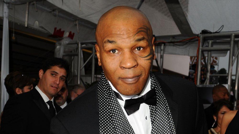 Mike Tyson bei der offiziellen Veranstaltung