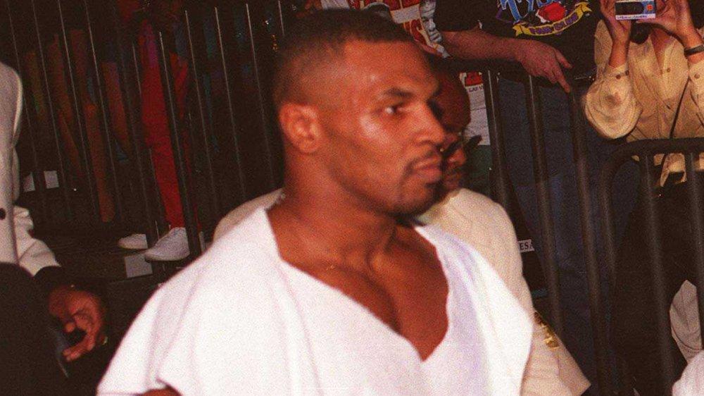 Mike Tyson vor einem Boxkampf