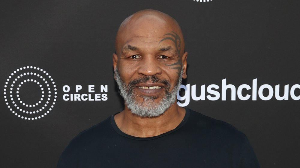 Mike Tyson grinst