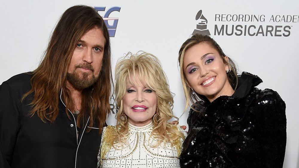 Billy Ray Cyrus, Dolly Parton und Miley Cyrus