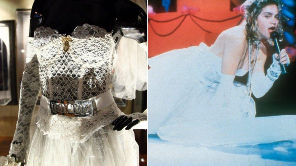 Das Kleid, das Madonna 1984 zu den VMAs trug;  Madonna tritt 1984 bei den MTV Video Music Awards auf