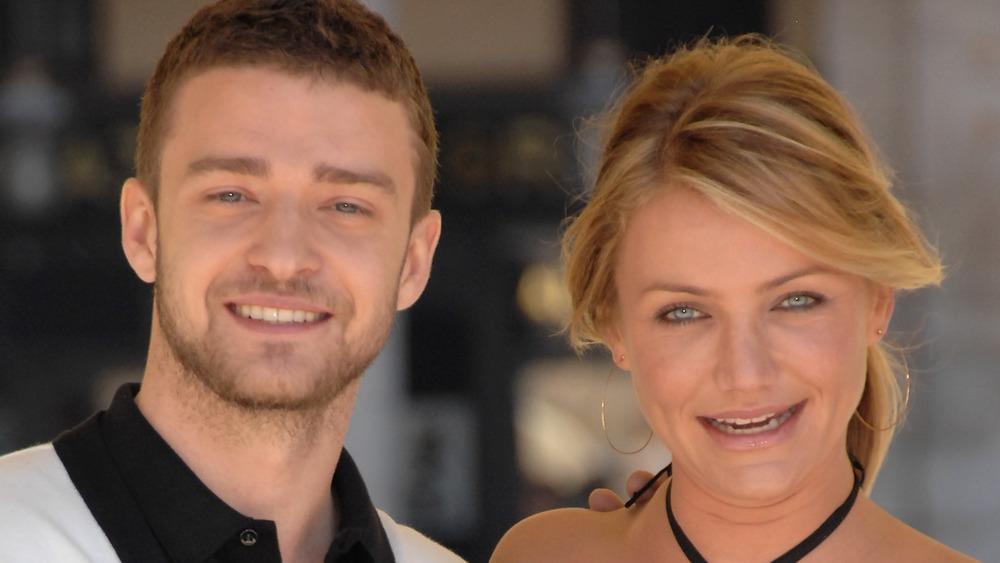 Justin Timberlake und Cameron Diaz lächeln unbeholfen