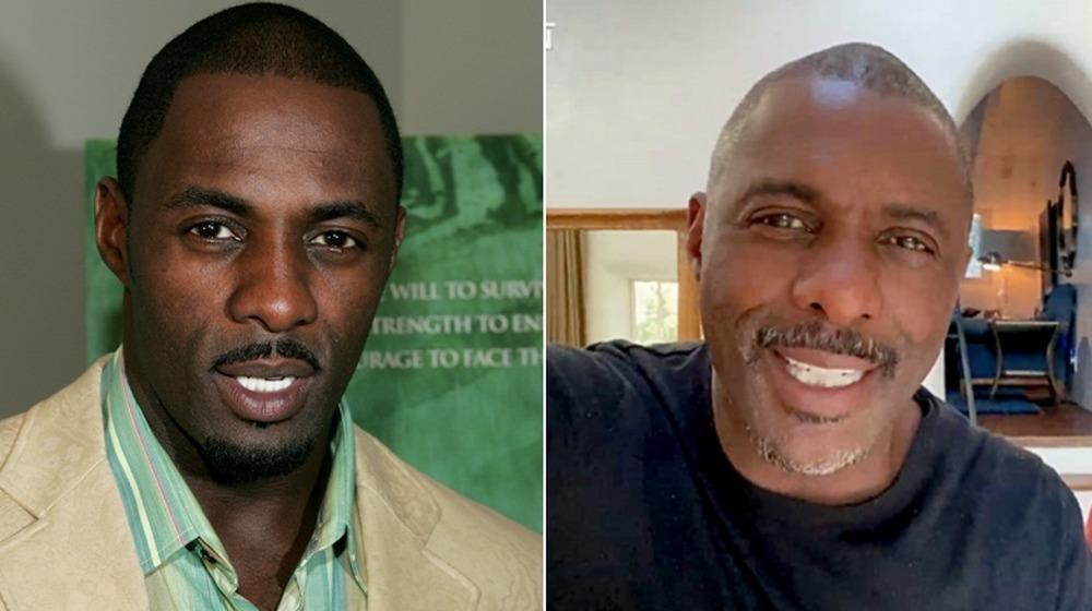 Idris Elba bei der Premiere von Manchmal im April 2004;  Idris Elba während einer Welt: Gemeinsam zu Hause