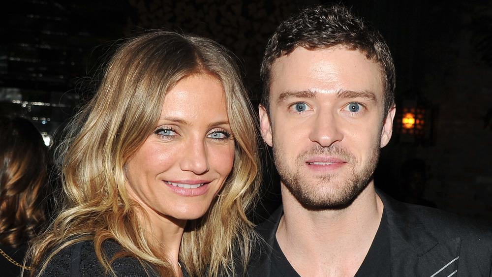 Cameron Diaz lächelte neben einem schockierten Justin Timberlake