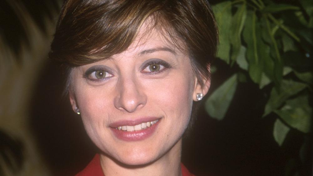 junge Maria Bartiromo lächelt in die Kamera