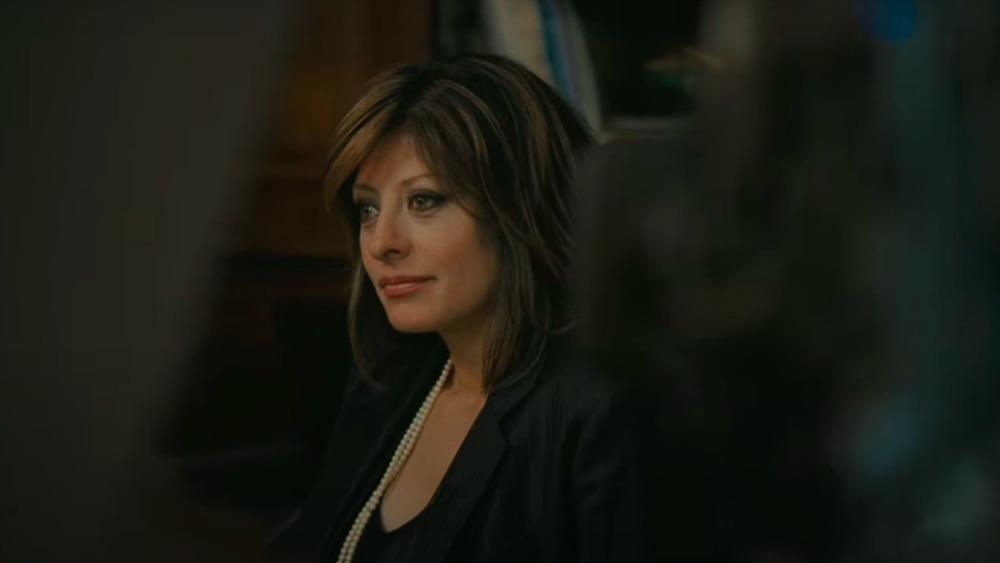 Maria Bartiromo schaut zur Seite