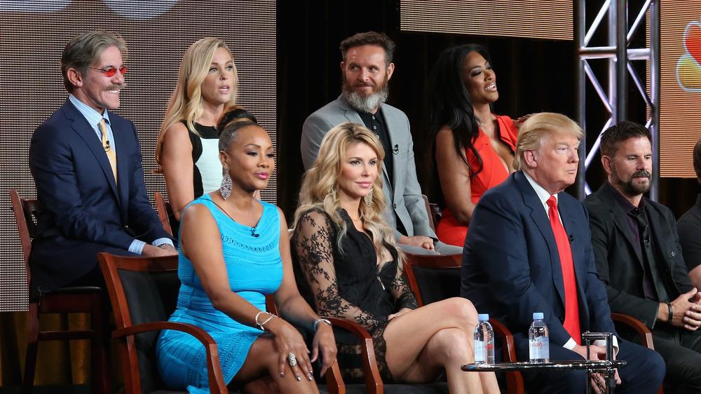 Geraldo Rivera und Donald Trump in einer NBC-Gruppenaufnahme