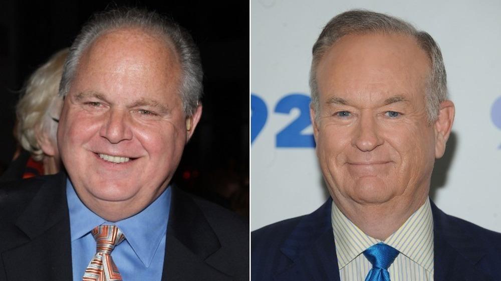 Rush Limbaugh lächelt (links), Bill O'Reilly lächelt (rechts)