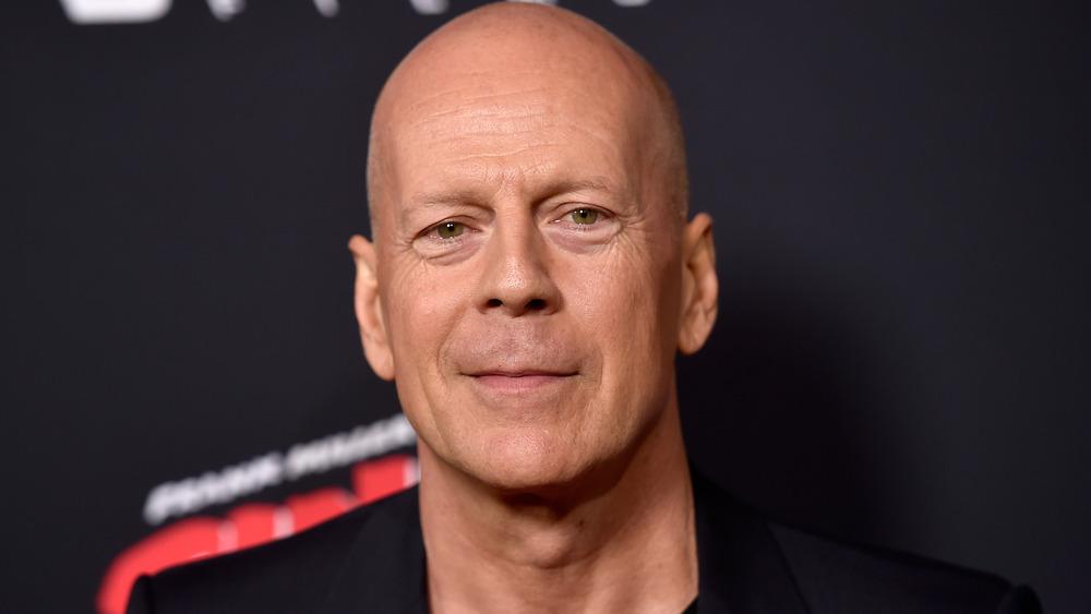 Bruce Willis auf rotem Teppich