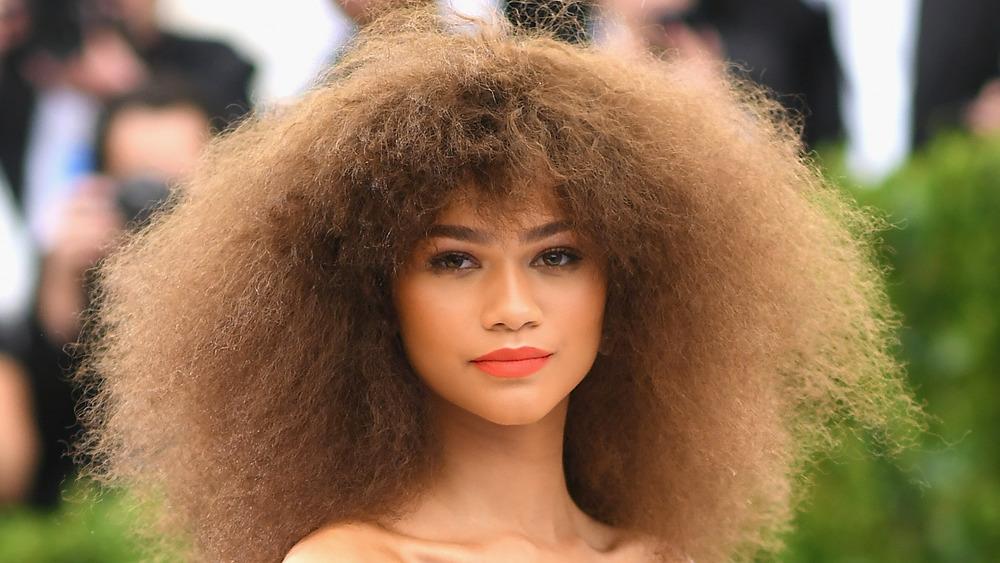 Zendaya mit einer großen Frisur