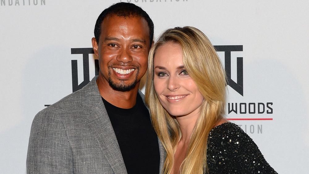 Tiger Woods und Lindsey Vonn posieren für ein Foto