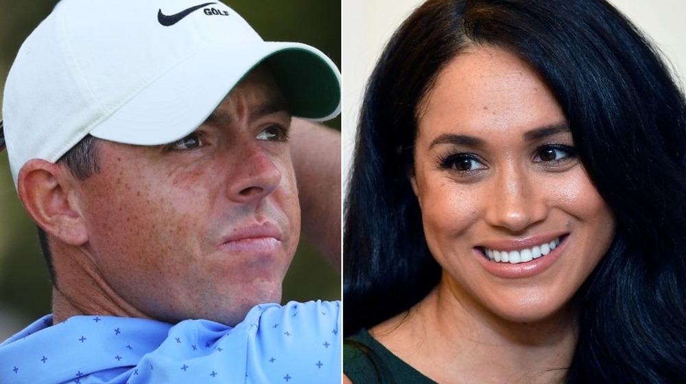 Rory McIlroy spielt Golf, Meghan Markle lächelt