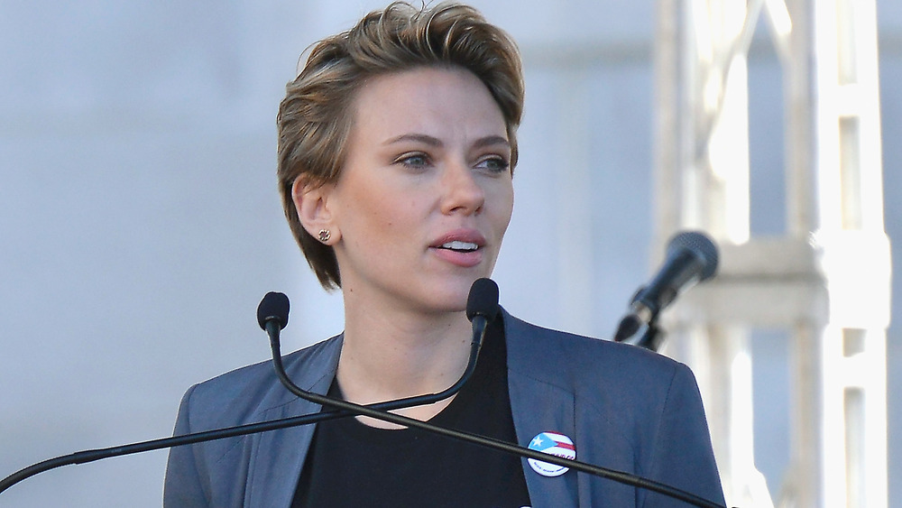 Scarlett Johansson beim Frauenmarsch