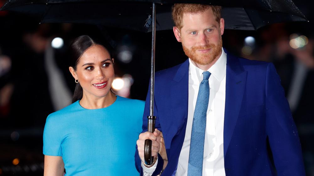 Prinz Harry Meghan Markle Regenschirm