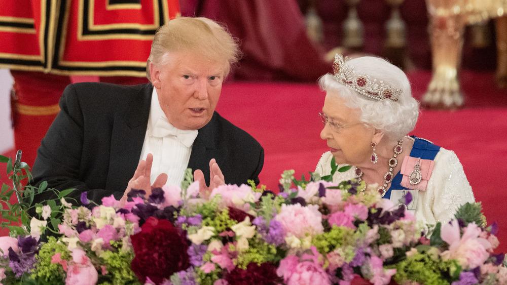 Donald Trump und Queen Elizabeth nehmen am Staatsbankett teil