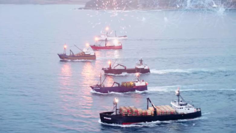 Die Schiffe von Deadliest Catch auf See