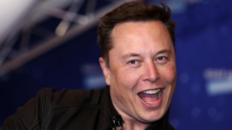 Elon Musk mit offenem Mund