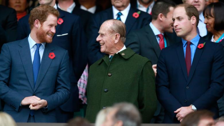 Prinz Harry und Prinz Philip und Prinz William