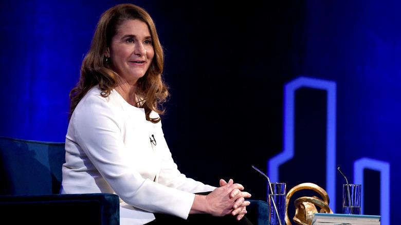 Melinda Gates spricht während Oprahs SuperSoul-Gesprächen
