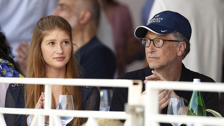 Jennifer Gates und Bill Gates sitzen zusammen