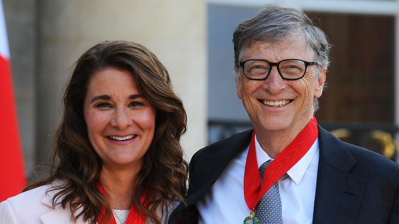 Bill und Melinda Gates lächeln