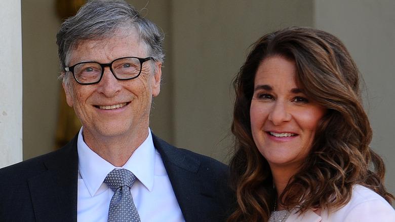 Melinda Gates und Bill Gates lächeln
