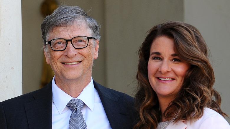 Bill Gates und Melinda Gates lächeln