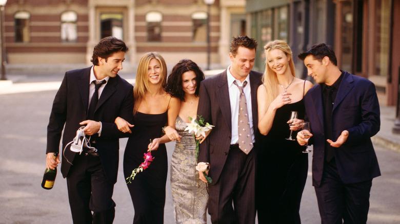 Jennifer Aniston, Lisa Kudrow, Courteney Cox, David Schwimmer, Matt LeBlanc und Matthew Perry