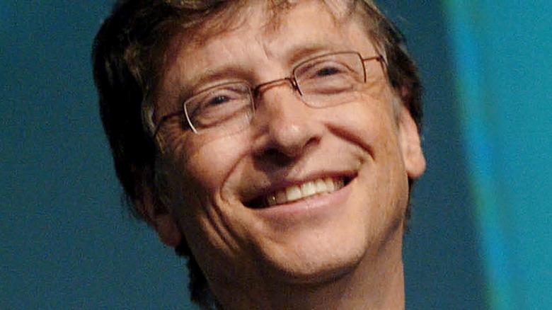 Bill Gates auf einer Bühne