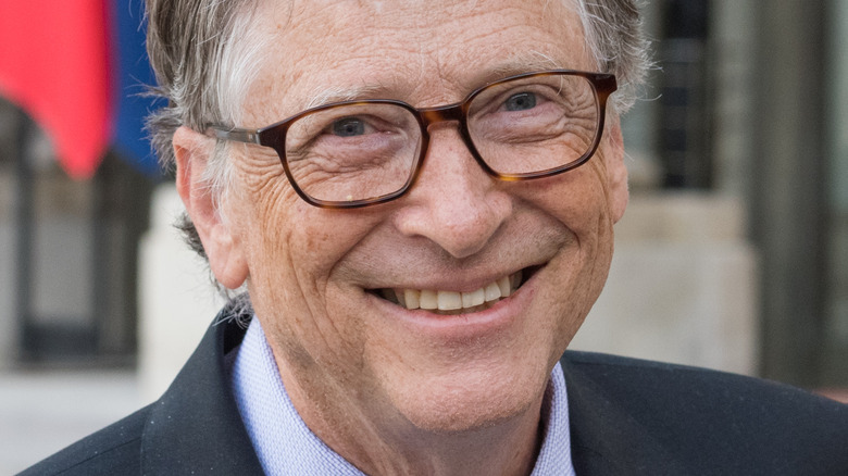 Bill Gates lächelte