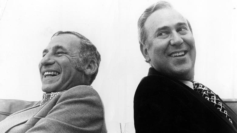 Porträt von Mel Brooks und Carl Reiner 1974