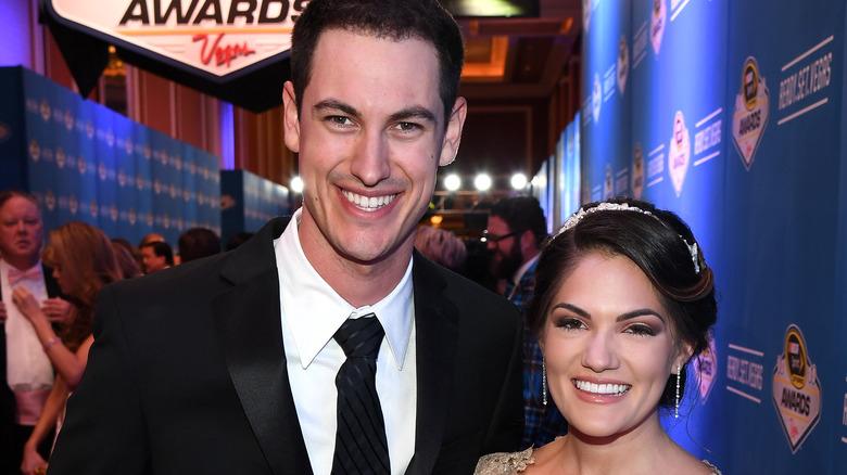 Joey Logano und Brittany Baca bei den NASCAR Awards