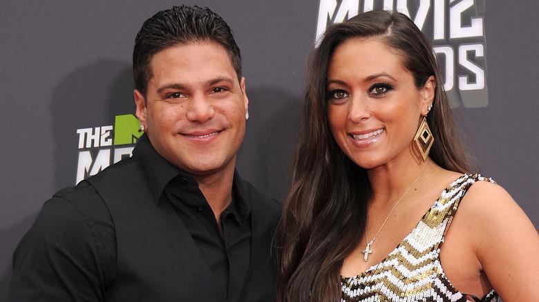 Ronnie Ortiz-Magro und Sammi Giancola lächeln 2013