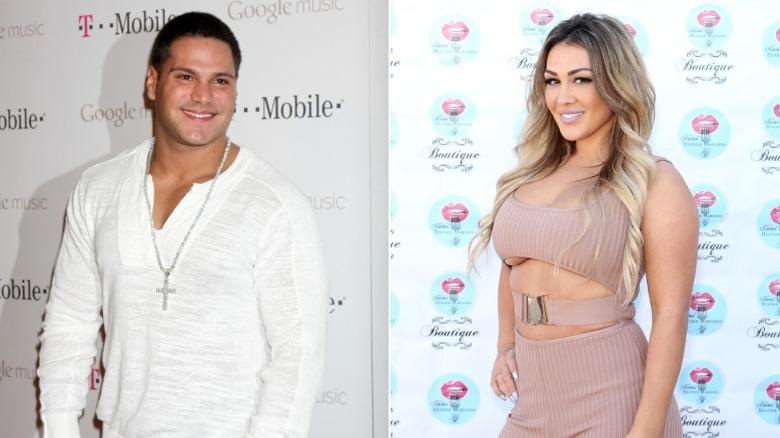 Ronnie Ortiz-Magro und Jen Harley lächeln auf roten Teppichen