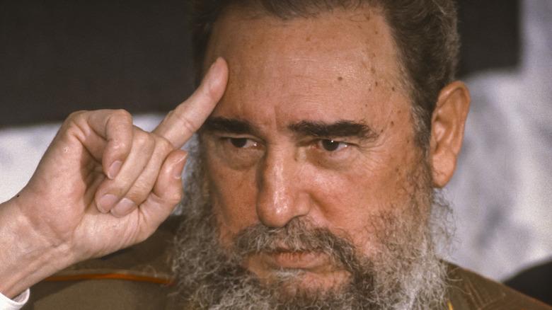 Fidel Castro auf der Pressekonferenz