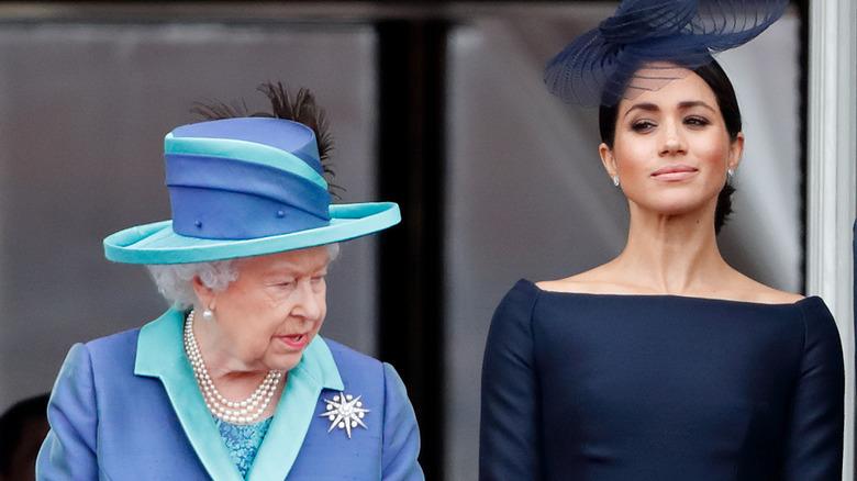 Königin Elizabeth und Meghan Markle