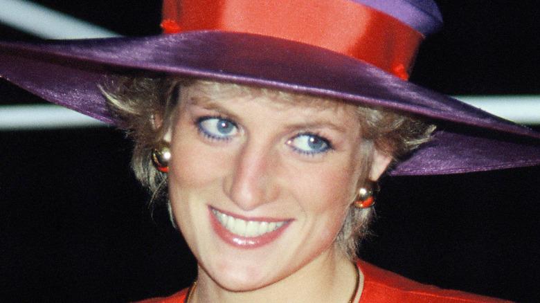 Prinzessin Diana lächelt