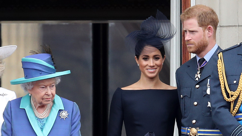 Queen Elizabeth, Meghan Markle und Prinz Harry