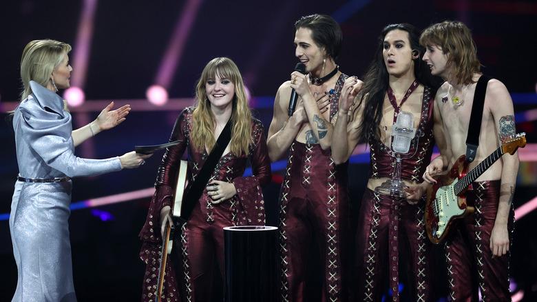 Maneskin gewinnt die Trophäe beim Eurovision Song Contest