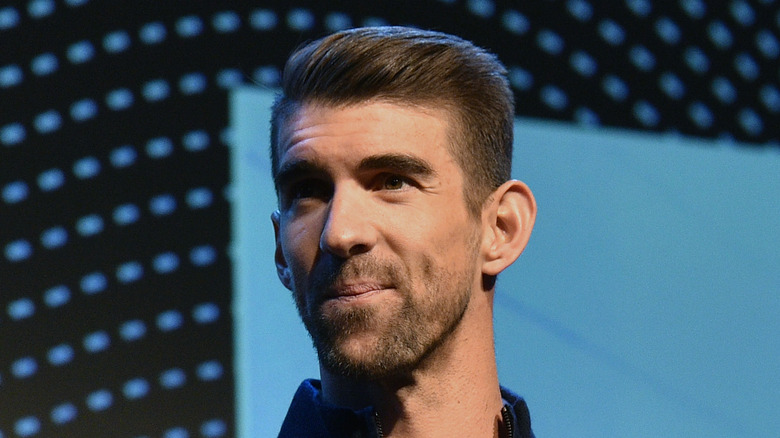 Michael Phelps auf der Bühne