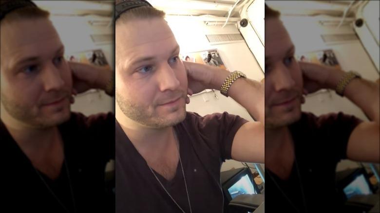 Brian Hickerson macht ein Selfie-Video