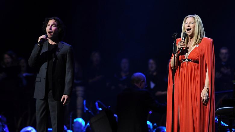 Jason Gould und Barbra Streisand