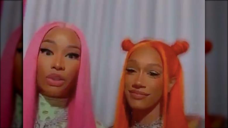 Nicki Minaj und BIA auf Instagram Live zusammen