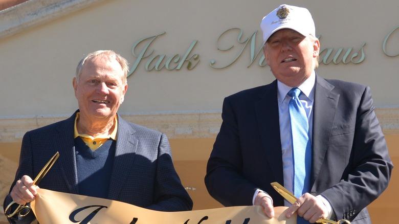 Jack Nicklaus und Donald Trump bei der Enthüllung der Jack Nicklaus Villa im Trump National Doral 2015