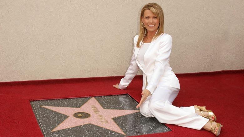 Vanna White mit Walk of Fame-Star