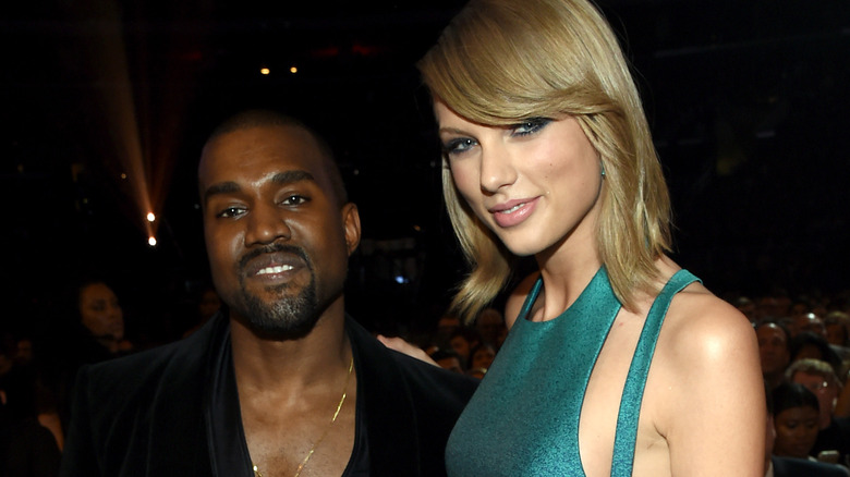 Kanye West posiert mit Taylor Swift
