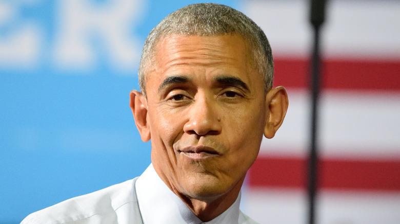 Barack Obama verzieht das Gesicht